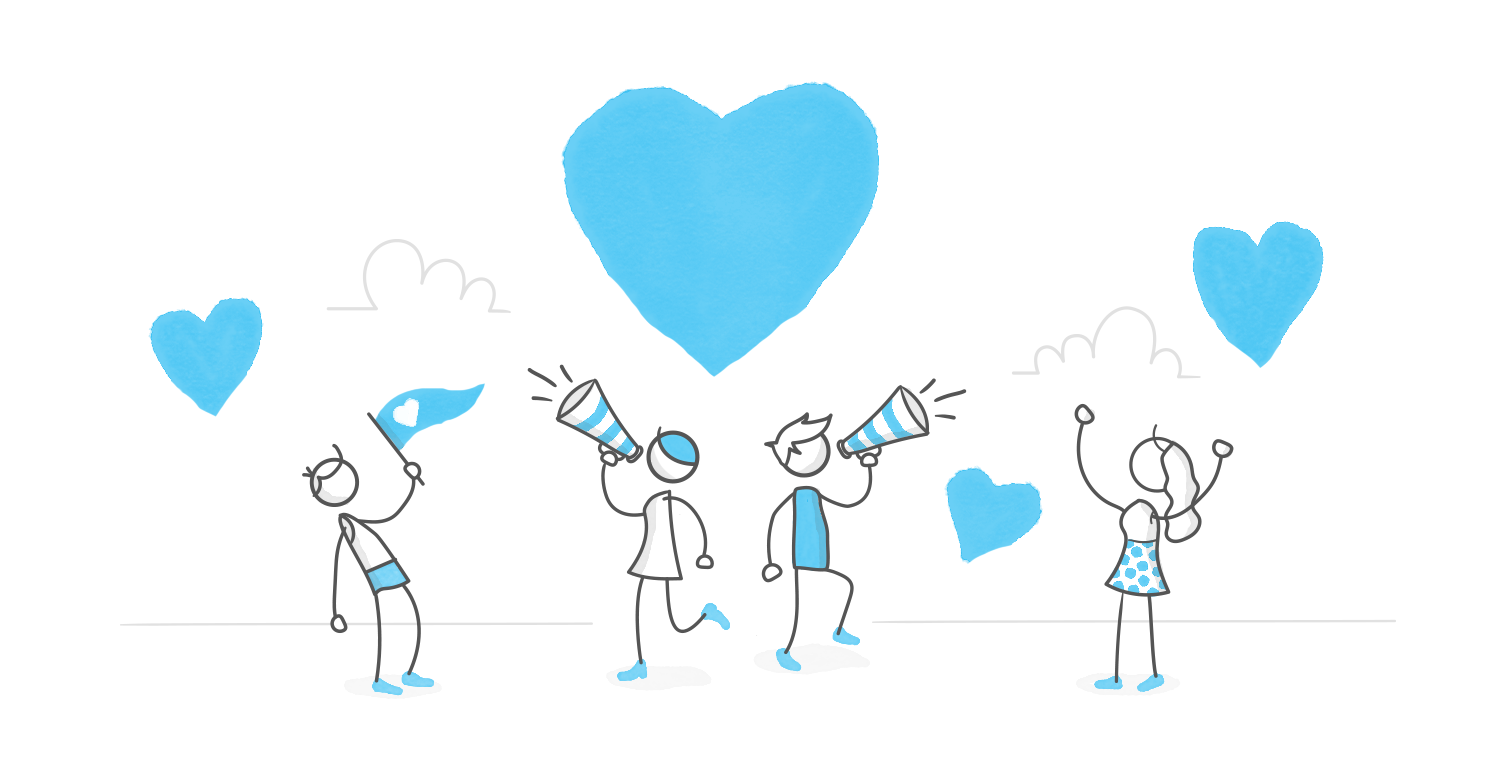 Illustration about sharing the love
