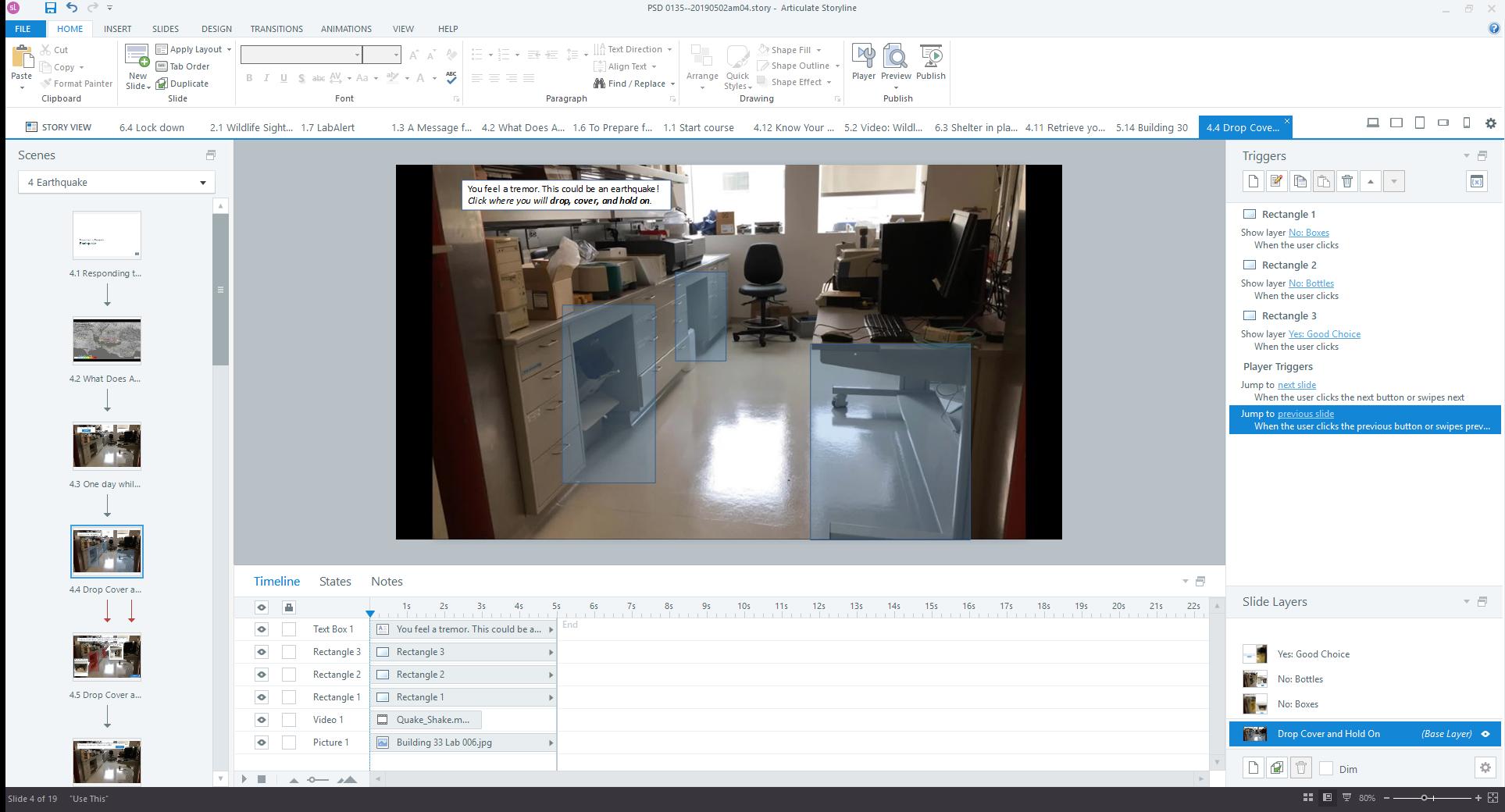 Storyline Edit screen, full