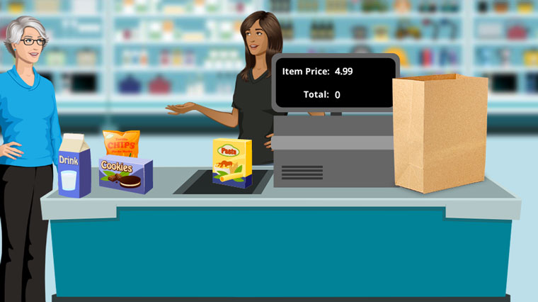 Grocery Store Checkout Simulations