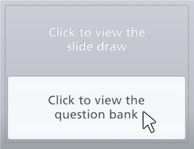 Click the bottom half of the slide to edit the question bank