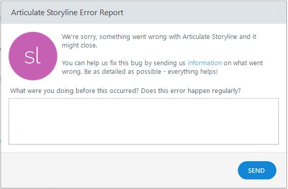 Storyline 360 Error