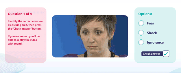 Reading facial expressions elearning