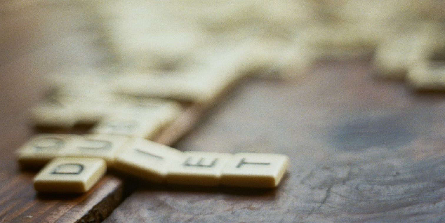 hero image of a Scrabble board close-up
