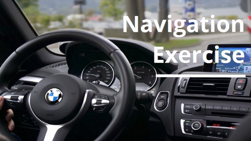 navigation exercise title slide