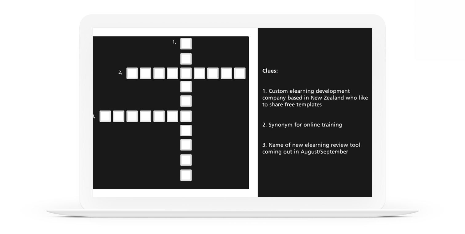 Crossword Puzzle Template by Jacinta Penn