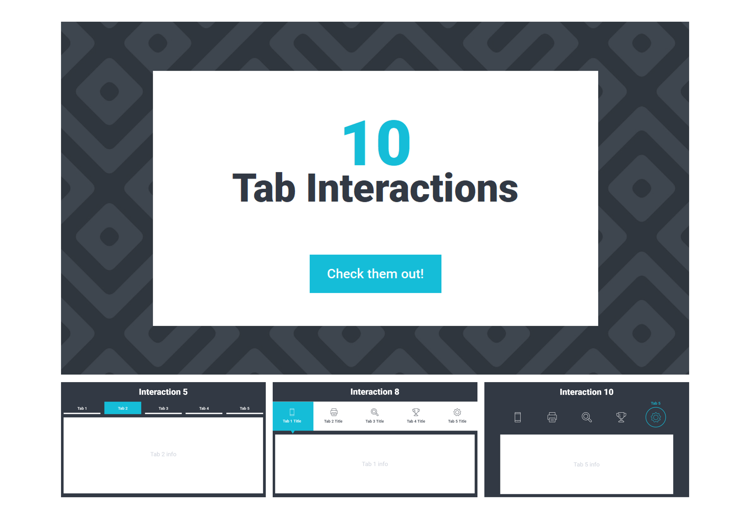 Articulate Storyline 360 Tab Interactions Collection