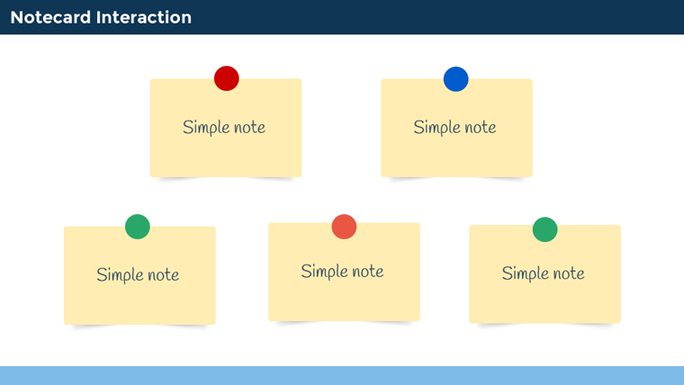 Notecard Interactions in E-Learning