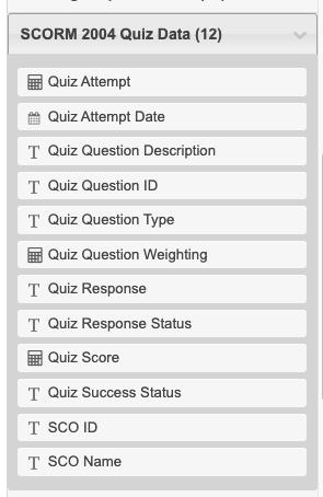 SCORM 2004 Quiz Data