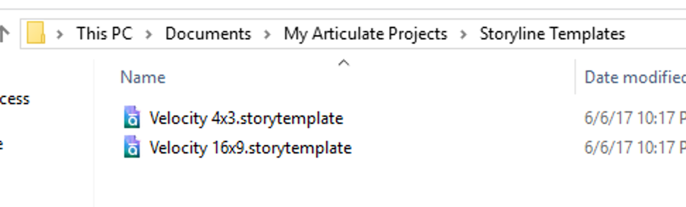 Velocity Template | Storyline 3 Velocity Template Issue Articulate Storyline