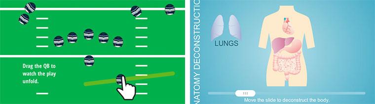 Football and Anatomy Sliders