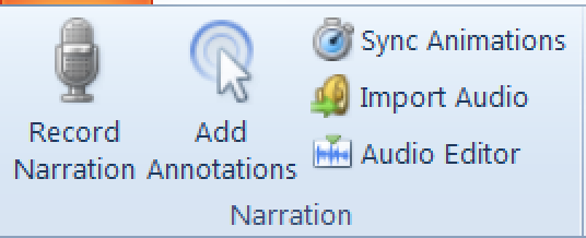 Narration in Articulate Presenter Ribbon