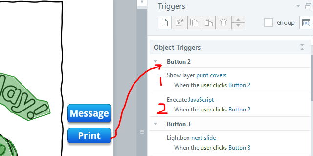 2 triggers on print button