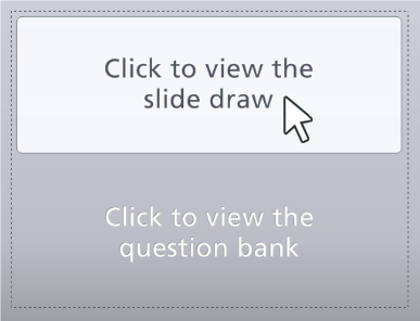 Click the top half of the slide to edit the question draw