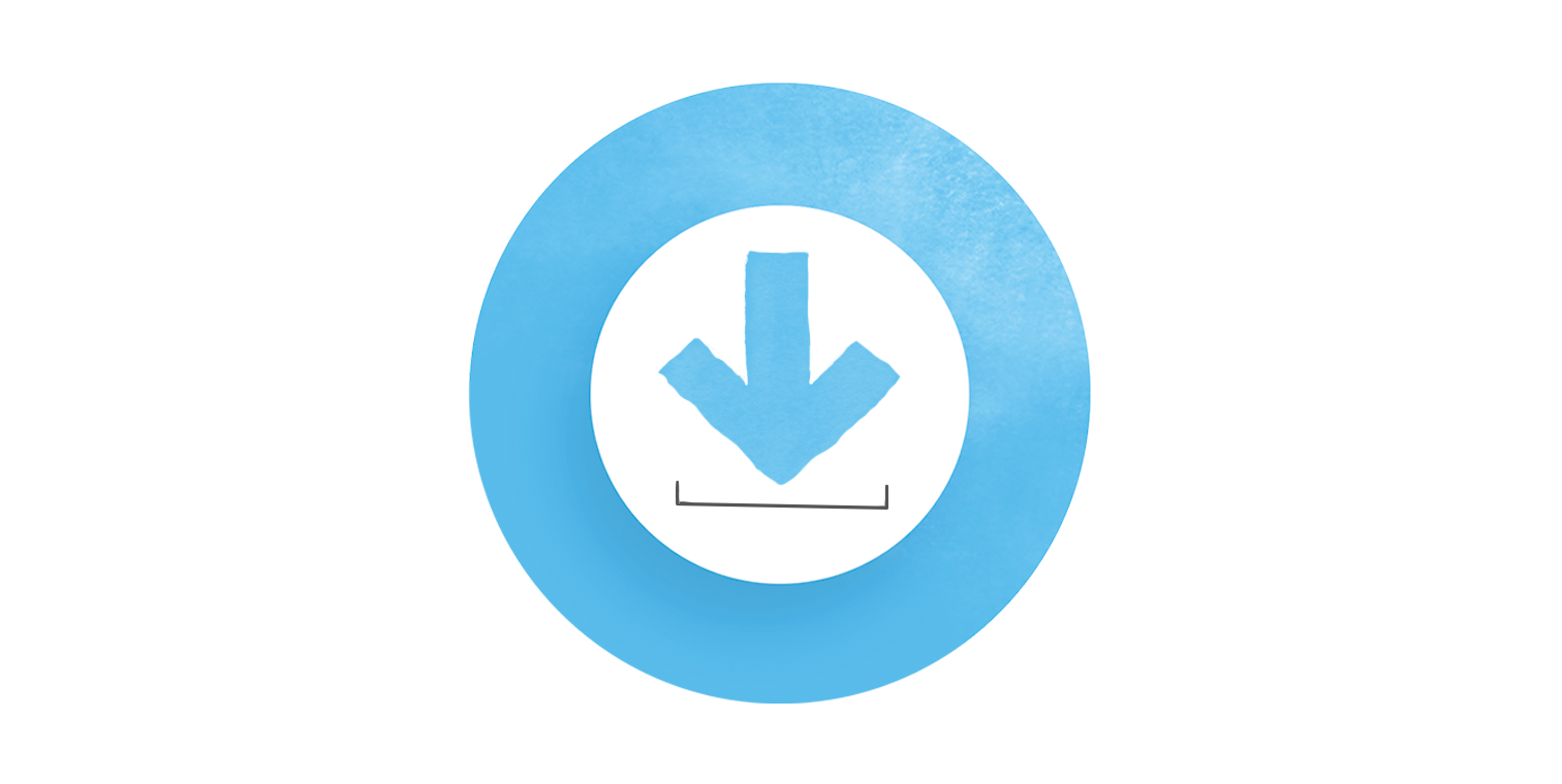 illustration of a stylized download icon inside the Articulate 360 ring