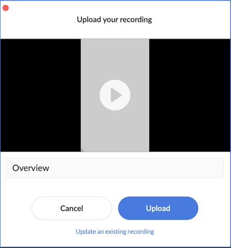 Peek 360 upload new recording