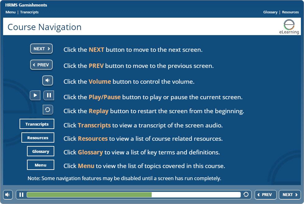 image of navigation slide
