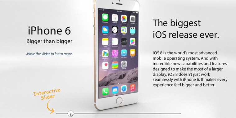 iPhone 6 Product Slider