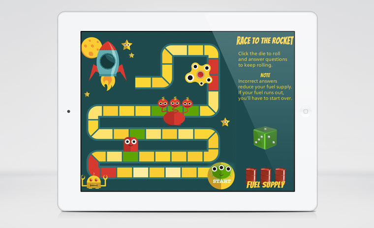 Race to the Rocket Board Game w/ JavaScript