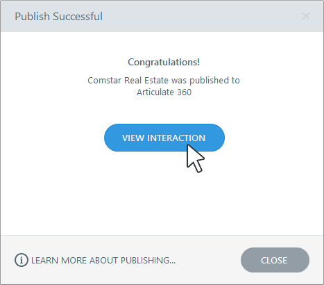 Publish Successful Dialog in Articulate Engage 360