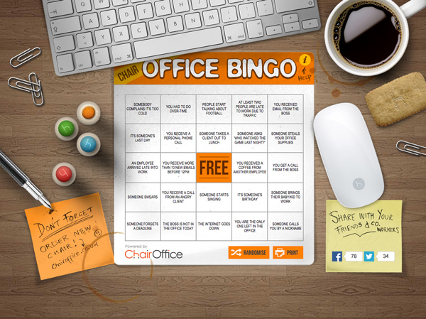 Interactive Office Bingo Game