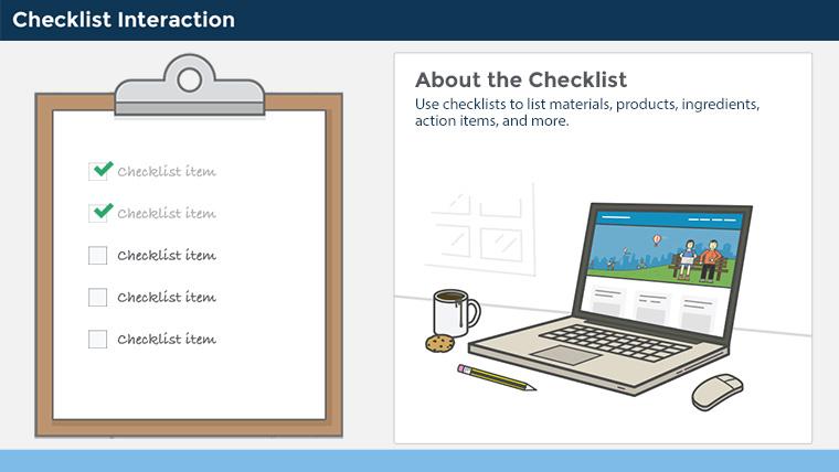 Checklist Interactions