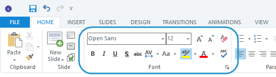 Font formatting options in Articulate Storyline 3