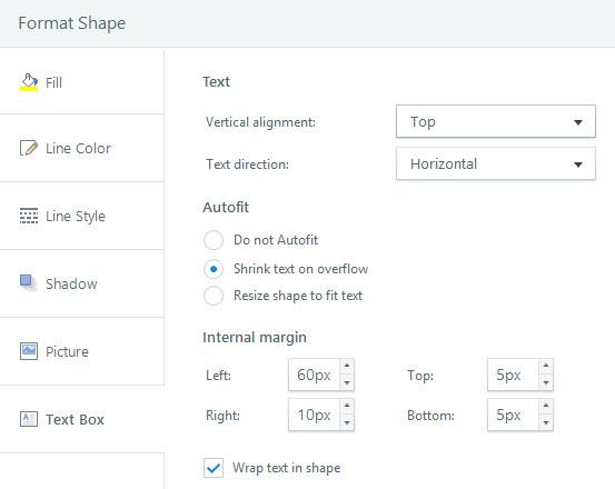 Format Shape Text Box