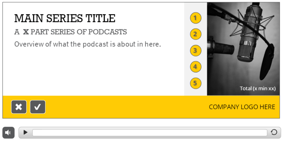 Multi track podcast