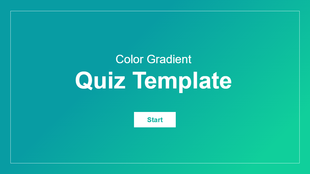 Articulate Storyline 360 Color Gradient Quiz Template Intro Slide