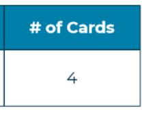 Screenshot of # of cards box