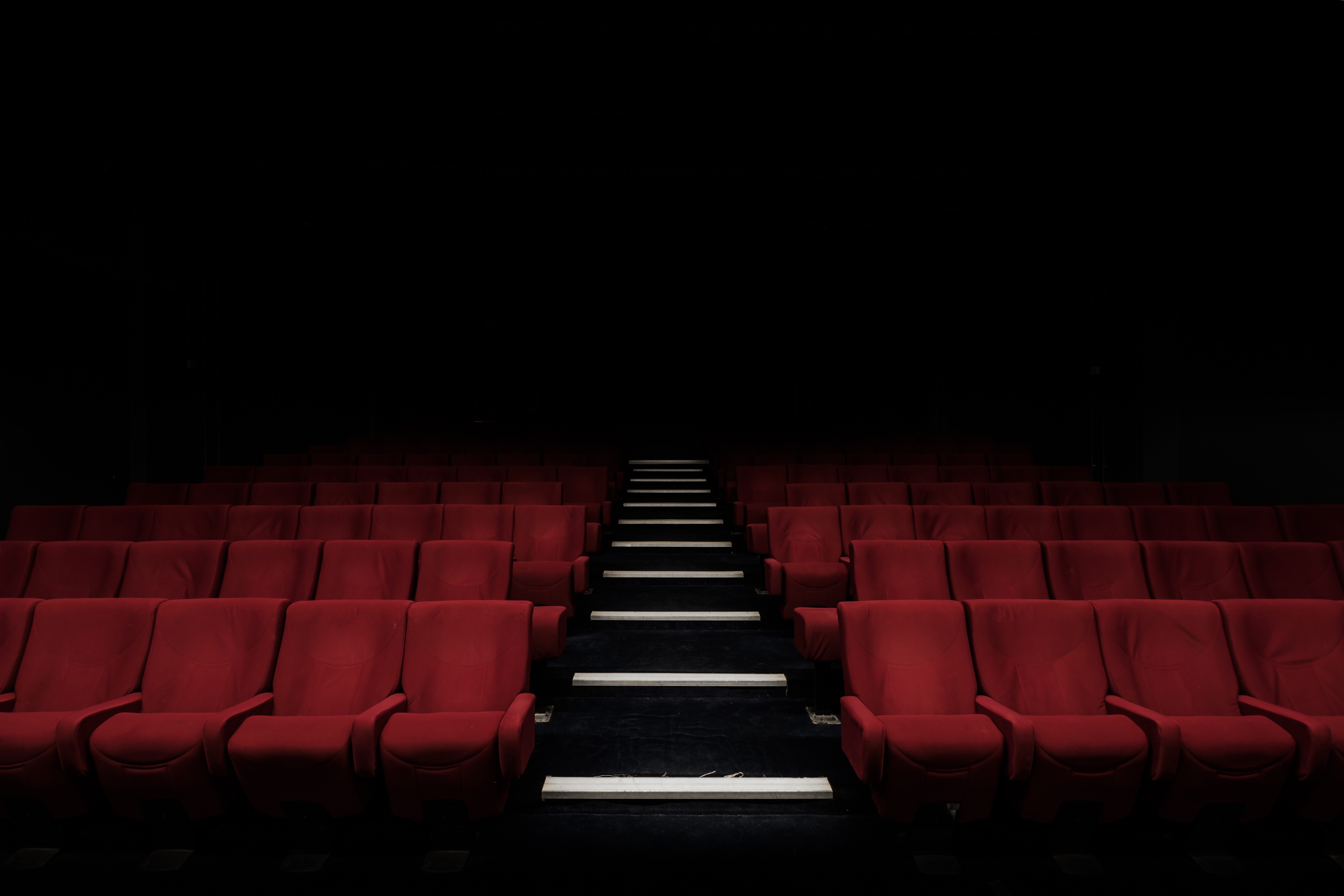 Darkened Movie Theater