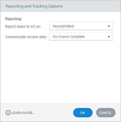 Reporting Options