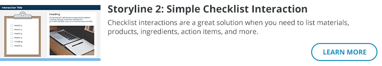 Storyline 2: Simple Checklist Interaction