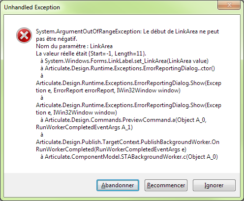 error message when previewing on SL2