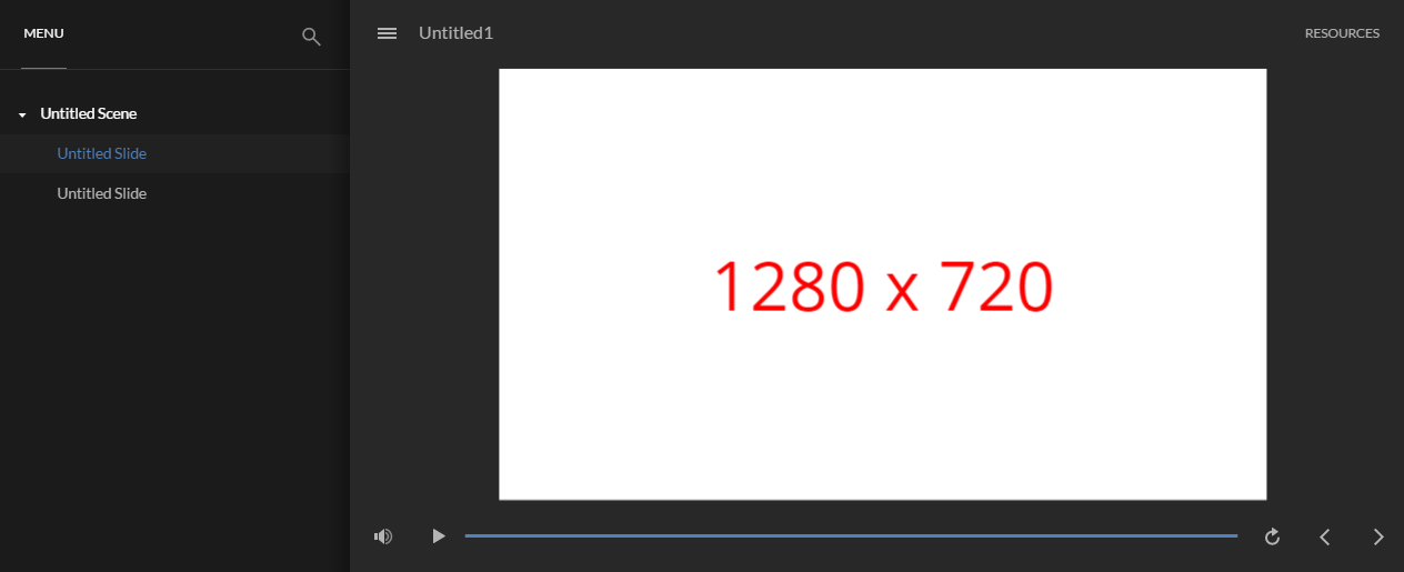 1280 x 720 in Modern Player