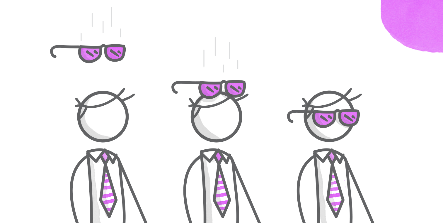 illustration of sunglasses in motion