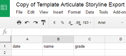 Google sheets capture