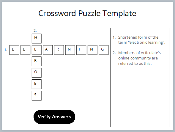 How to build a crossword puzzle for storyline number next to the word in the crossword puzzle finally i inserted the button that users click to check whether their answers are correct maxwellsz
