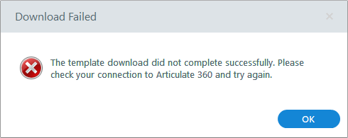 Download Failed message