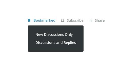 Forum Subscription Choices