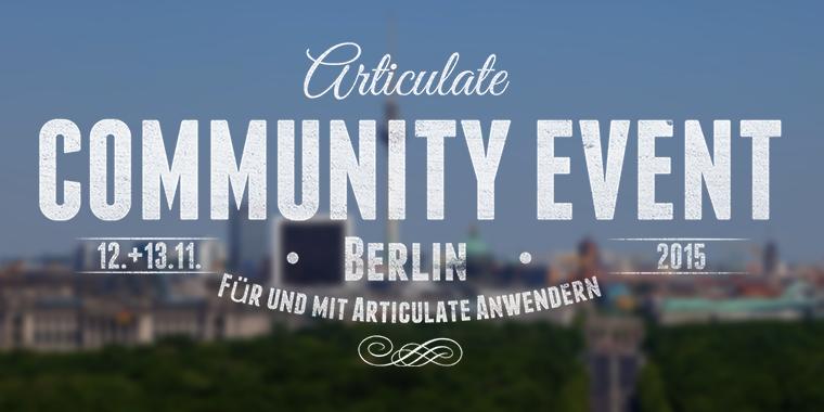 Articulate Community Event Berlin 2015