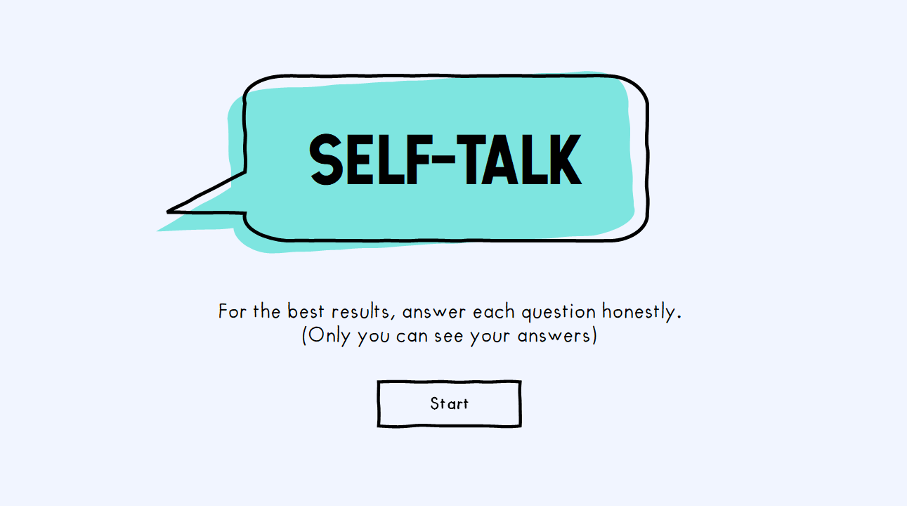 Self Talk Template and Example