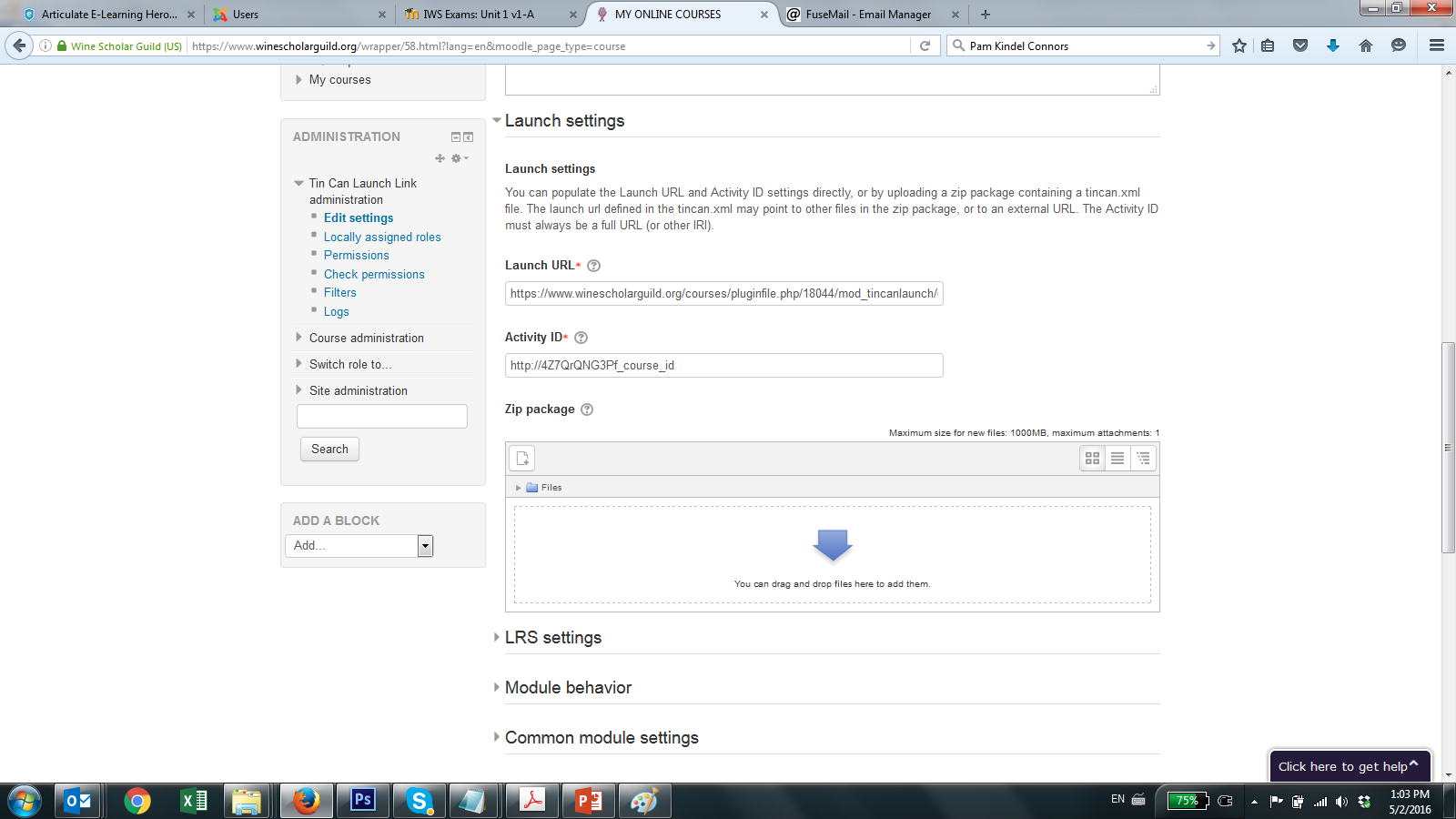 Tin Can on Moodle with Scorm Cloud plugin - Articulate