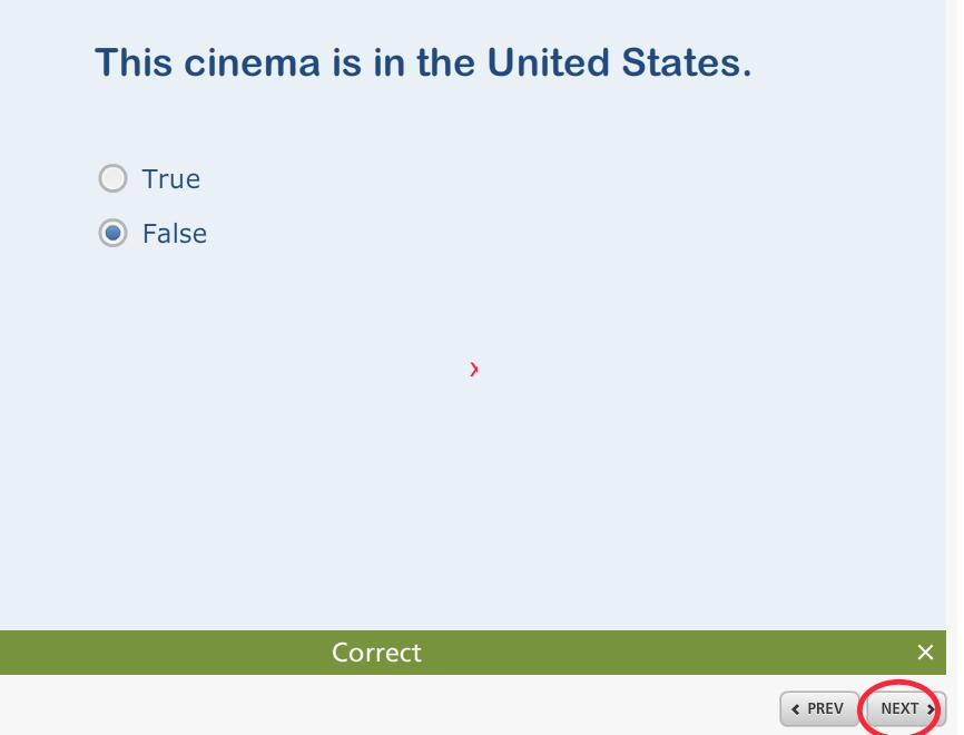 Next button takes user nowhere