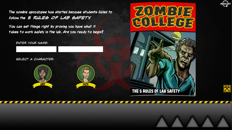 View Zombie College: 5 Rules of Lab Safety