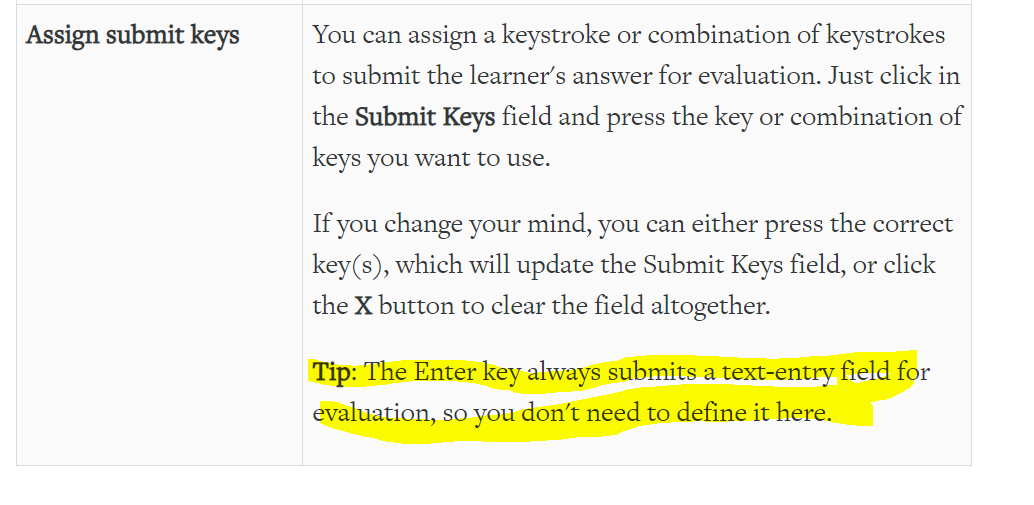 Prevent enter key from submitting short answer survey