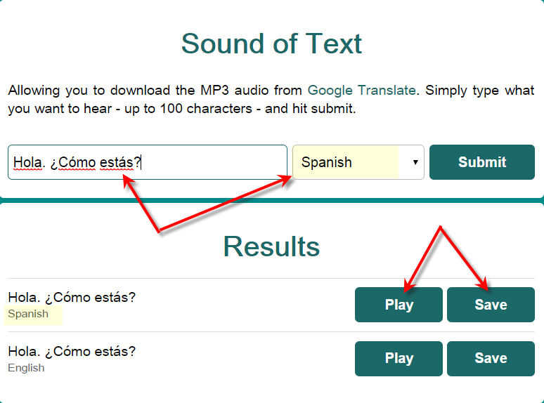 Using Google to Create Foreign Language MP3 Audio Files - Building