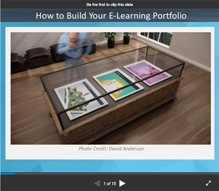 Building Your E-Learning Portfolio