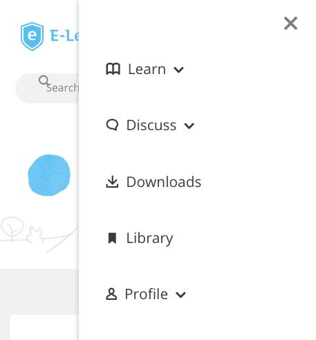 E-Learning Heroes menu