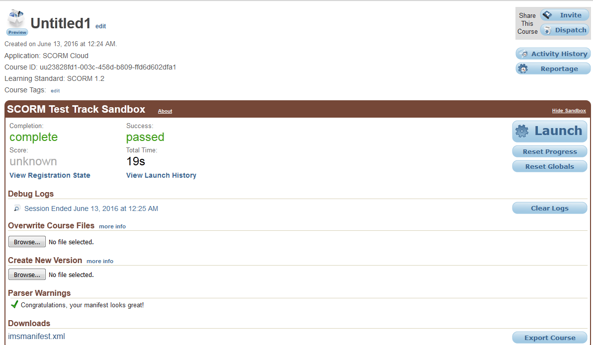 SCORM 1 2 course returns an empty string in Moodle - Articulate